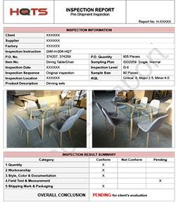 Проверка товара (мебель)